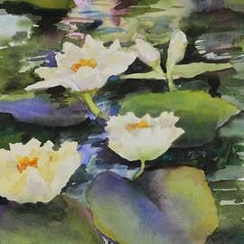 Maria Hunt - Lilies in the Fountain