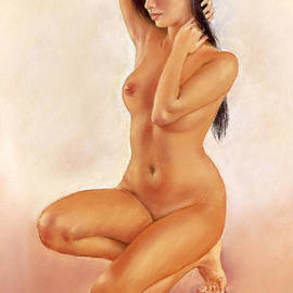 Margaret Merry - Lily kneeling