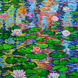 Ana Maria Edulescu - Lily Pond Colorful Reflections
