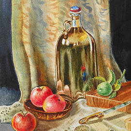 Irina Sztukowski - Lime And Apples Still Life