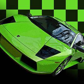 Samuel Sheats - Lime Green Lamborghini Murcielago with Checkerboard
