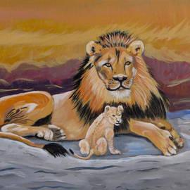 Phyllis Kaltenbach - Lion and Cub