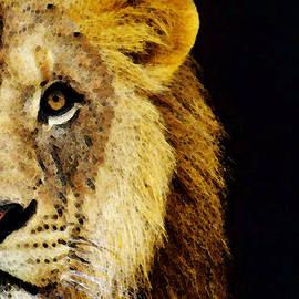 Sharon Cummings - Lion Art - Face Off 2 - By Sharon Cummings