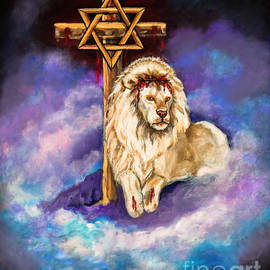 Bob and Nadine Johnston - Lion of Judah Original Painting