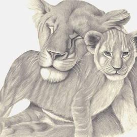 Patricia Hiltz - Lioness and Cub