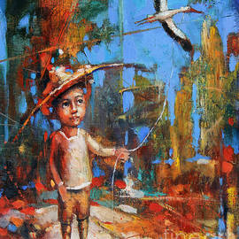 Michal Kwarciak - Little Boy and Kite