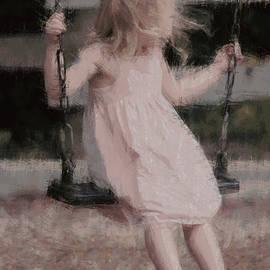 The Art Of Marilyn Ridoutt-Greene - Little Girl on Her Swing