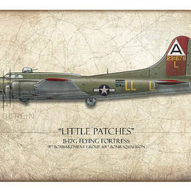 Craig Tinder - Little Patches B-17 Flying Fortress - Map Background