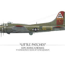 Craig Tinder - Little Patches B-17 Flying Fortress - White Background