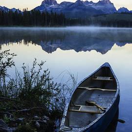 Vishwanath Bhat - Little Redfish Lake and Canoe