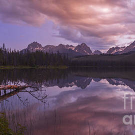 Vishwanath Bhat - Little Redfish Lake sunset Stanley Idaho