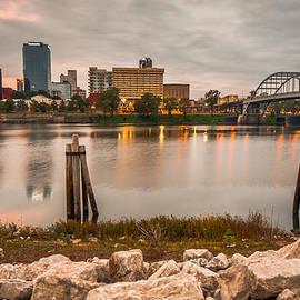 Gregory Ballos - Little Rock Arkansas Skyline from the River