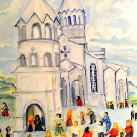 Helena Bebirian - Little White Church Ghazanchetsots Cathedral Karabagh Armenia