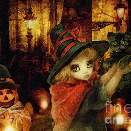 Mo T - Little Witch Black Cat and Pumpkin