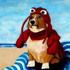 Katy Hawk - Lobster Corgi on the Beach
