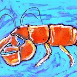 Catherine Lee - Lobster on Blue