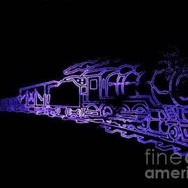 Kelly Awad - Locomotive in Blue Neon