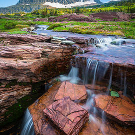 Inge Johnsson - Logan Pass Waterfall