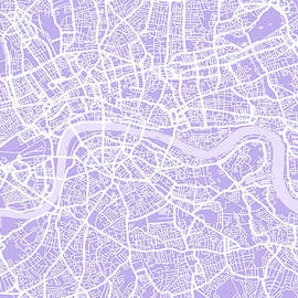 Michael Tompsett - London Map Lilac