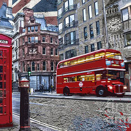 Delphimages Photo Creations - London street creation