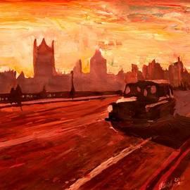 M Bleichner - London Taxi Big Ben Sunset with Parliament