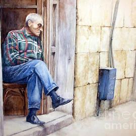 Zaher Bizri - Look - watercolor - Lebanon - Artist Zaher El-Bizri