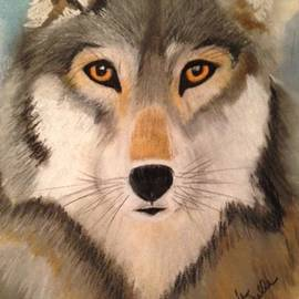 Renee Michelle Wenker - Looking at a Timber Wolf