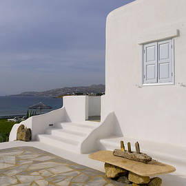 Brenda Kean - Looking out to sea in Mykonos