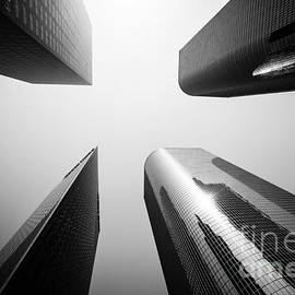 Paul Velgos - Los Angeles Skyscraper Buildings in Black and White
