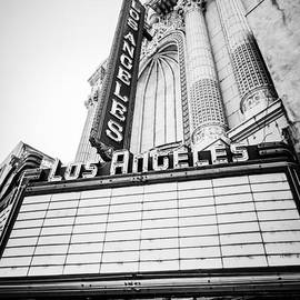 Paul Velgos - Los Angeles Theatre Sign in Black and White