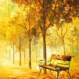 Leonid Afremov - Lost Bench 2 - PALETTE KNIFE Oil Painting On Canvas By Leonid Afremov