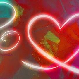 Catherine Lott - Love Abstract Neon