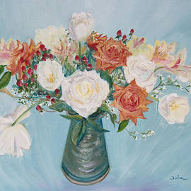 Asha Carolyn Young - Love Bouquet in White and Orange