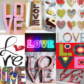 M and L Creations - Love Love Love Collage