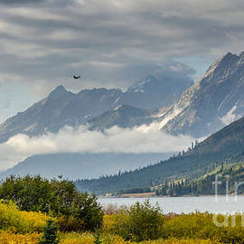 Debra Martz - Low Clouds On The Teton Mountains