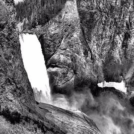Dan Sproul - Lower Yellowstone Falls Black And White