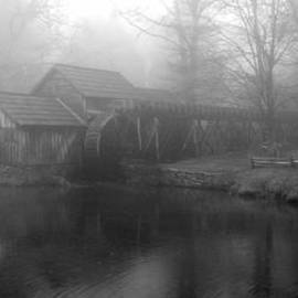 Diannah Lynch - Mabry Mill In Fog BW