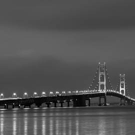Sebastian Musial - Mackinac Bridge Black and White
