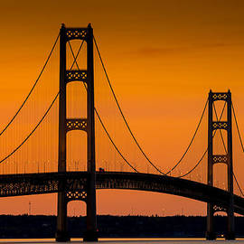 Steve Gadomski - Mackinac Bridge Sunset