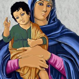 Karon Melillo DeVega - Madonna With Child Blessing