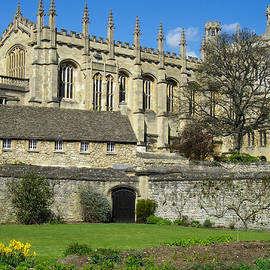 Robert Ford - Magdalen College Chapel seen from Botanic Gardens Oxford University England