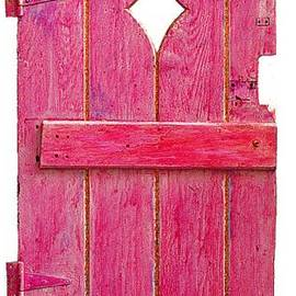 Asha Carolyn Young - Magenta Pink Painted Garden Door