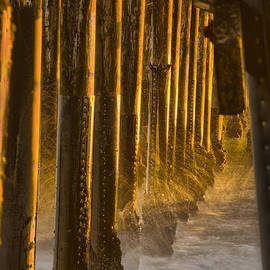 Denise Dube - Magic Hour Under Seal Beach Pier