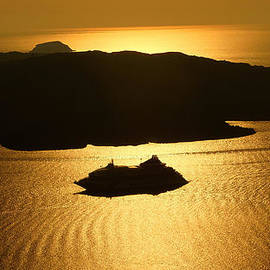 Colette V Hera  Guggenheim  - Magic Sunset View from Santorini Island