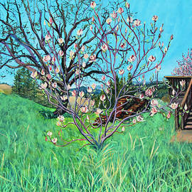 Asha Carolyn Young - Magnolia Blooming at the Farm