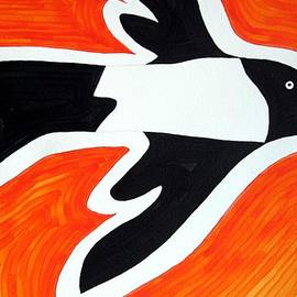 Sol Luckman - Magpie original painting SOLD