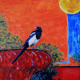 Xueling Zou - Magpie Singing at the Bath