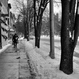 Geoffrey Coelho - Main Street in Winter - Black and White