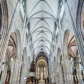 Alexander Sorokopud - Majestic gothic cathedral interior.