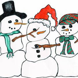 Minnie Lippiatt - Making Snowman Santa